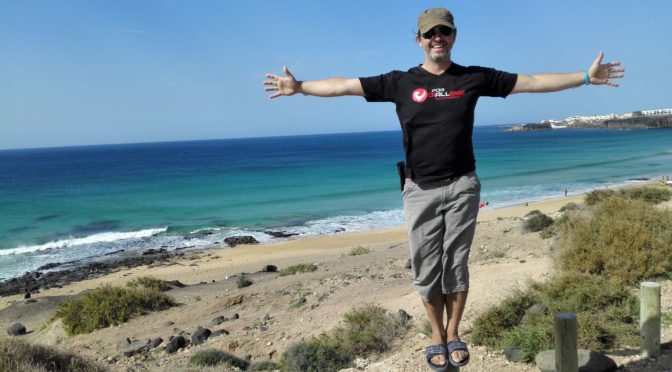 Erste Surfversuche auf Fuerteventura …