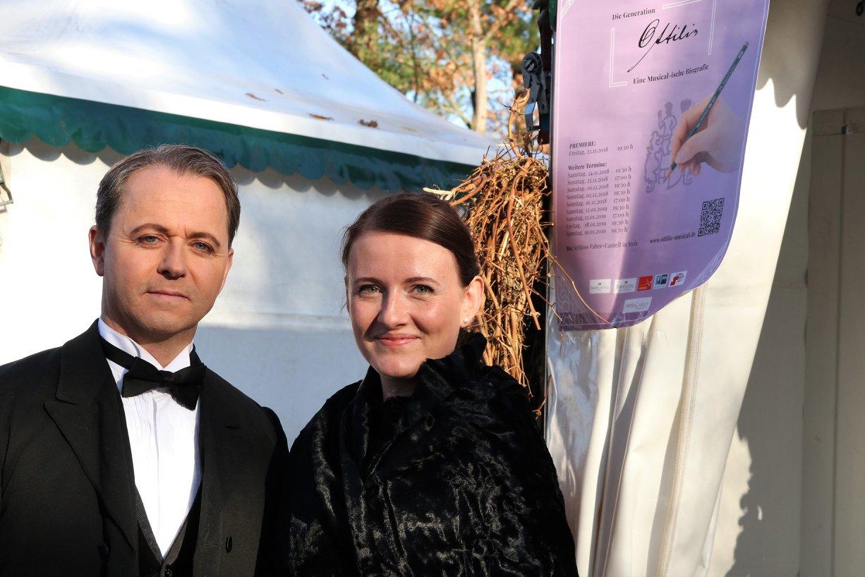 Lothar von Faber mit Enkeltochter Ottilie