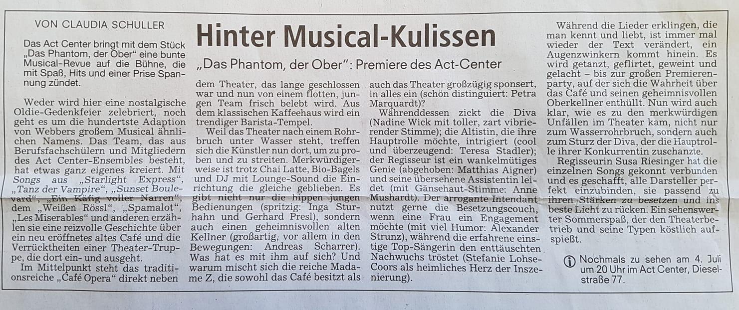 """Hinter Musical-Kulissen"" (PRESSE)"