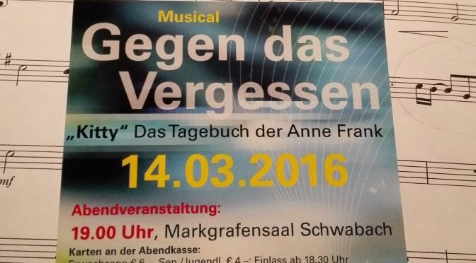 """Wiederaufnahme des Musical """"Gegen das Vergessen"""""""